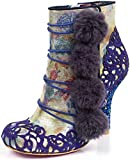 Irregular Choice Slummber Party Womens Synthetic Boots (9 US, Navy)