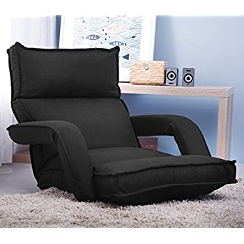 Merax folding lazy sofa floor chair sofa for Floor couch amazon