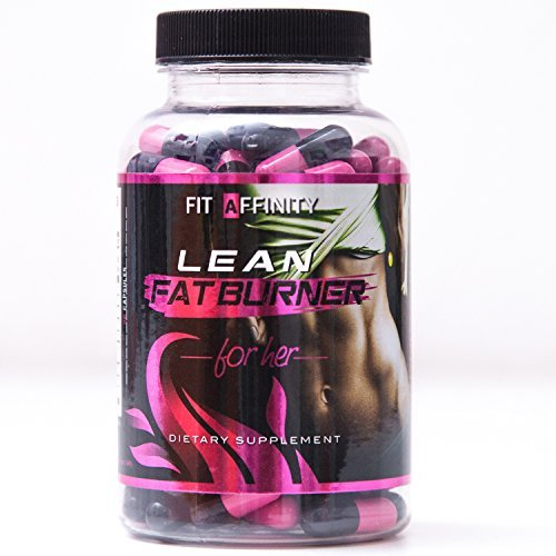 Fit Affinity Lean Fat Burner Pills for Her - 45 Day Supply (90 Capsules)