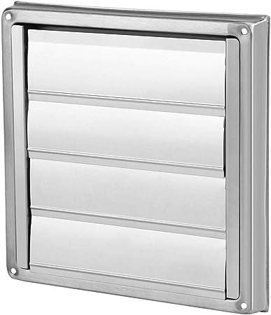 Ausla Rejilla de ventilación de Acero Inoxidable, diámetro de 100 mm, Orificio de ventilación, Rejilla de ventilación Cuadrada, Secadora, Campana extractora: Amazon.es: Hogar
