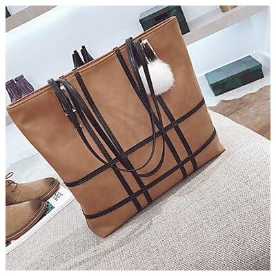 Women Bags All Season PU Shoulder Bag Zipper for Formal Office & Career Black Gray Brown