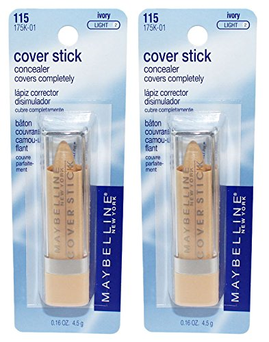 2 pcs MAYBELLINE Cover Stick Corrector/Concealer - Ivory Light 115 (May or may not be sealed/carded) (Cover Ivory Stick Concealer Maybelline)