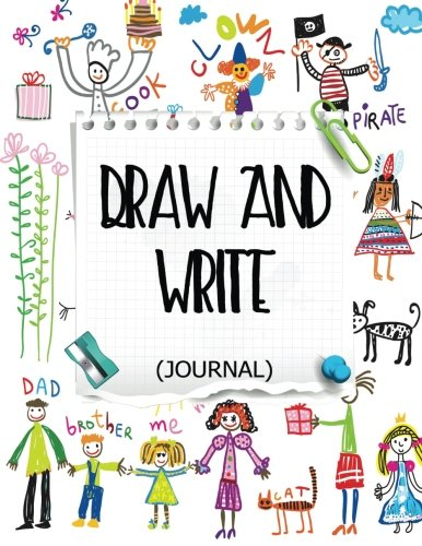 Draw And Write Journal: Creative Writing Drawing Journal For Kids (Half Page Lined Paper With Drawing Space)(8.5 x 11 Notebook)(V15)