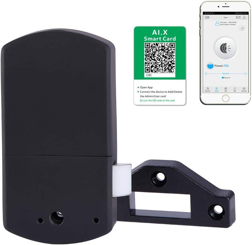 einfaches DIY Schubladenschloss Schwarz Autorisierte Baby-Sicherheit private Schrankschloss We.lock Elektronische versteckte Bluetooth-App zum Entsperren von Mobiltelefon