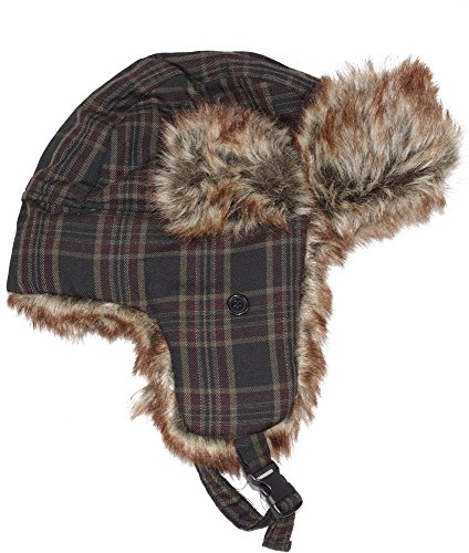 Women's BlackCanyon Outfitters BCOMPLDTH Men's Plaid Trooper Hat with Fur Assortment