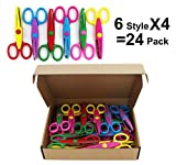 SKKSTATIONERY 24 Pcs Decorative Craft Scissors, Paper Edger Scissors, Great for Teachers, Crafts, Scrapbooking