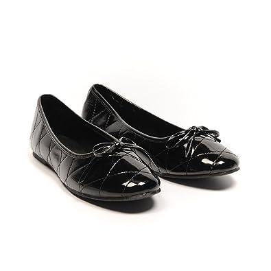 5b00367f79af Casa di Stella Shoes Black Bow Detail Flats Size 37 UK 4 LA 130 ...