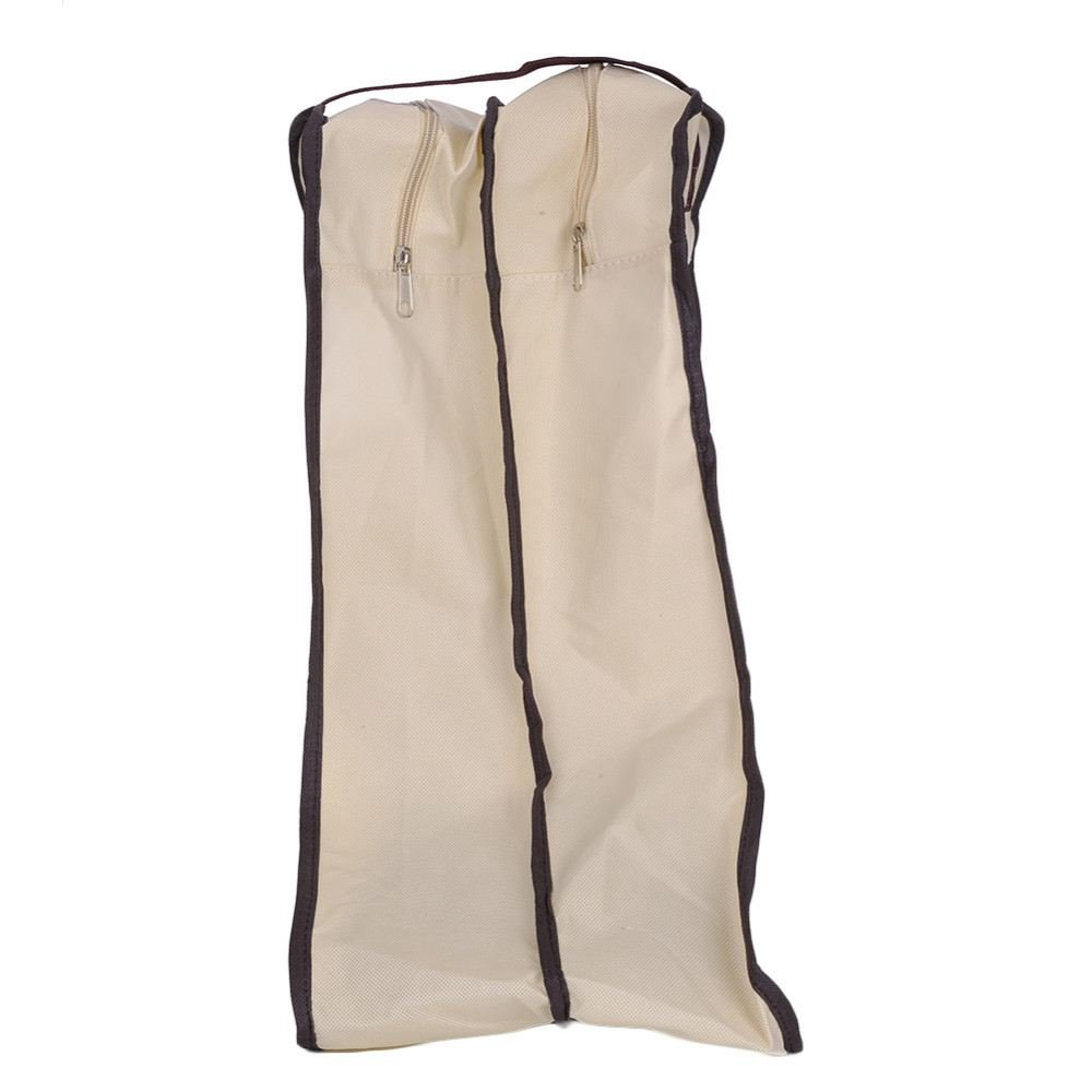 Globalflashdeal Dustproof Foldable Boots Storage Bag Shoes Organizer Portable Travel Protector Bags Long Boots Cover Container Beige