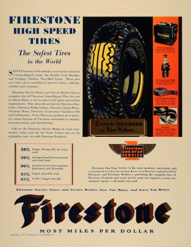 1931-ad-firestone-tire-rubber-car-services-spark-plugs-original-print-ad