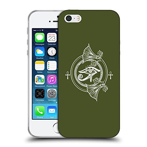GoGoMobile Coque de Protection TPU Silicone Case pour // Q09930605 Religion 33 armée verte // Apple iPhone 5 5S 5G SE