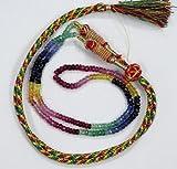 Devgemsandjewels 16 inch Strand A++ Multi Sapphire Ruby Emerald Faceted Rondelle Gemstone Beads Necklace.