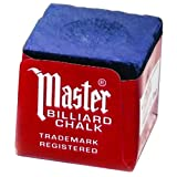 Master Billiard/Pool Cue Chalk Box, 12 Cubes, Blue