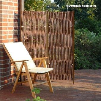 Videx Paravent Skagen 2 Teilig Weide 130 X 160cm Amazon De Garten