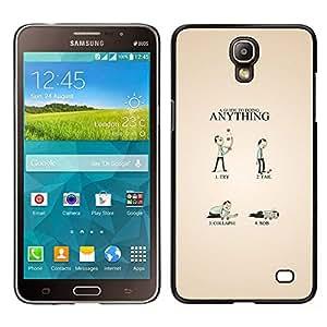 KLONGSHOP // Cubierta de piel con cierre a presión Shell trasero duro de goma Protección Caso - Guía divertido - Samsung Galaxy Mega 2 //