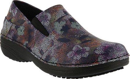 Black Mosaic Step Print Shoe Women's Work Faux Leather Multi Spring Ferrara wH7O6q6BZ