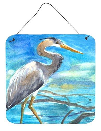 - Caroline's Treasures Bird-Blue Heron Aluminum Metal Wall or Door Hanging Prints, 6 x 6, Multicolor