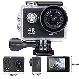Mesqool 4K Ultra HD 12MP 170° 30 Meter Waterproof Diving Sport Action WiFi Underwater Video Camera(Black)