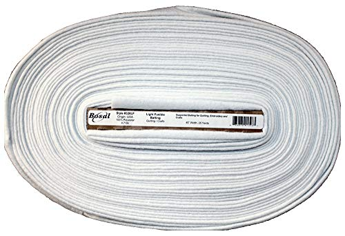 Bosal Single Sided Light Fusible 4.7oz Batting, 45in Wide, Cut from The Bolt (1/3 Yard)