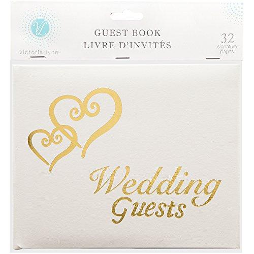 Gold Hearts Wedding Guest Book - Victoria Lynn Guest Book 6
