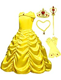 Princess Belle Yellow Party Costume Dress-up Set
