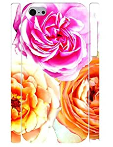 3D Print Pretty Classic Peony Bloom Durable Phone Skin Case for Iphone 5C