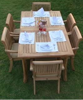 New 7 Pc Luxurious Grade A Teak Dining Set