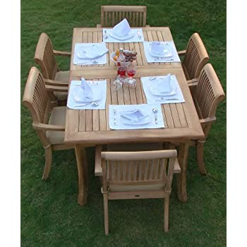 Amazoncom New 9 Pc Luxurious GradeA Teak Dining Set 94