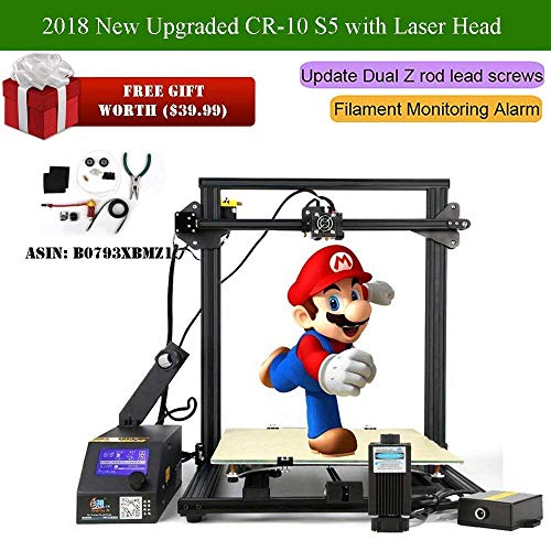 Creality CR-10 S5 Plus Laser Head 3D Printer with High Precision Laser  Head  Large Printing Size DIY FDM 3D Printer, with 200 g CCTREE PLA  Filament +