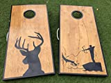 Buck and Bow Fishing Cornhole Board Set