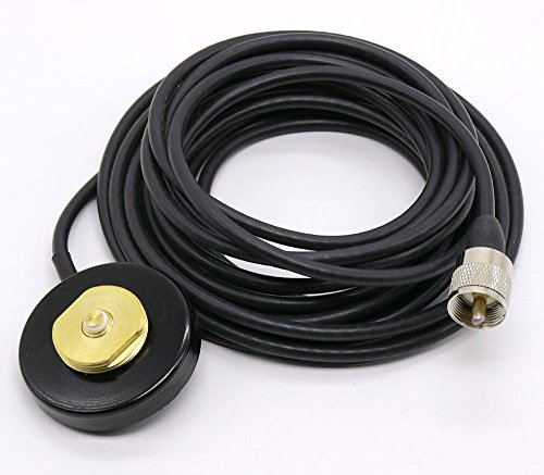 Nmo Base - NMO Mount Magnetic base for Car Bus Taxi Mobile Radio Antenna W/5M Cable