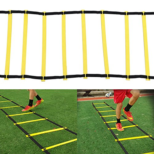Agility Ladder Speed Training Football Soccer Rung Fitness 15 Feet Durable Exercise Meter - Bay The Edmonton Locations