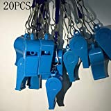 Kaqkiasiog 20 Pcs Blue Plastic Loud Whistles with Lanyard for Referee Coaches Basketball Football Sports Training Game Event Lifeguard Survival Emergency Fun School Kids Tool Set Suppliers