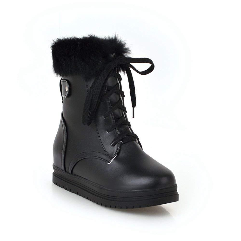 QINGMM Frauen Plattform Baumwolle Stiefel 2018 Herbst Winter Plüsch Schnee Stiefel 40-43 Große Größe,Schwarz,41 EU B07JMBNJNN Sport- & Outdoorschuhe Klassischer Stil