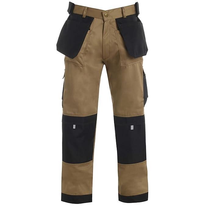 Army And Workwear - Chaqueta - para hombre BEIGE / SCHWARZ - mit stich kontrastdetails 48: Amazon.es: Ropa y accesorios
