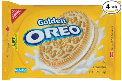 Amazoncom Oreo Golden Oreo Cookie 166 Ounce Packages Pack Of 4