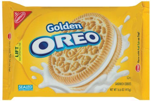 Oreo Golden Oreo Cookie 166Ounce Packages Pack of 4