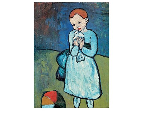 (Alonline Art - Child With Dove Pablo Picasso VINYL STICKER DECAL 24