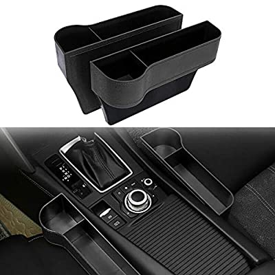 Ternence Flynn 2PCS Car Seat Gap Storage Boxes, Auto Seats Gap Organizer with Cup Holder Helps Reduce Distracted Driving & Holds Phone Money Cards Keys 10.2X6.3X2.2 Inch (Drive+Passenger Side): Home Improvement