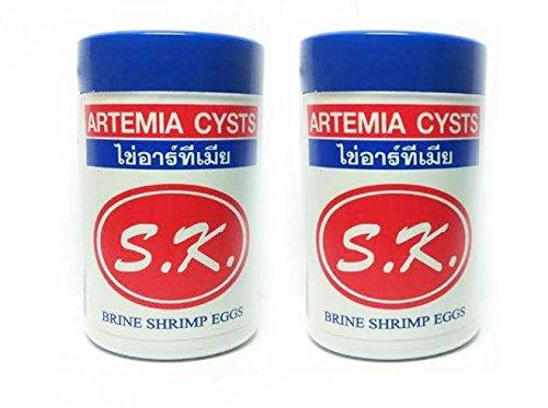 S.K. Brine Shrimp Artemia Eggs - 50g 95% HATCH RATE (Pack...