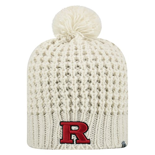 (Top of the World Rutgers Scarlet Knights Official NCAA Uncuffed Knit Slouch 1 Beanie Hat 477220)