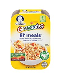 Gerber Graduates Lil Meals, Rice, Sweet Potato, Carrot and Chicken, 6 Ounce, 6 Count BOBEBE Online Baby Store From New York to Miami and Los Angeles