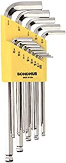 product image for Bondhus 16937 Set of 13 Balldriver L-wrenches with BriteGuard Finish, Long Length, sizes .050-3/8-Inch