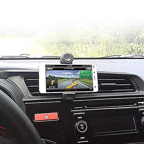 WINLISTING Car Outlet Bracket Black Car Air Vent Mount Cradle Holder Stand for Mobile Smart Cell Phone GPS ABS Can Be Rotated 360 Degree