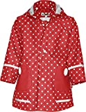 Playshoes Childrens Dots Collection Waterproof Rain Jacket (3-4 Years 104, Red)
