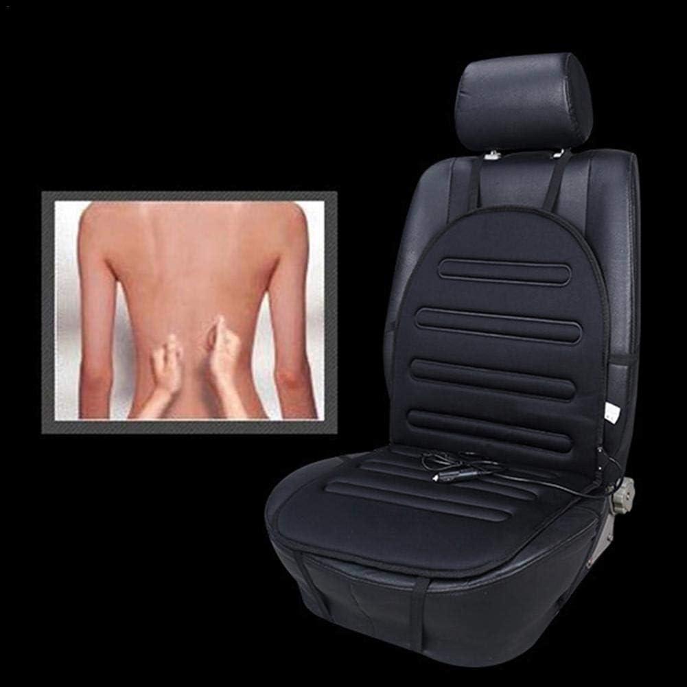 calentador universal para coj/ín de asiento calefactado de 12 V para coche protecci/ón contra sobrecalentamiento silla de oficina casa Mississ Coj/ín calefactable para asiento de coche