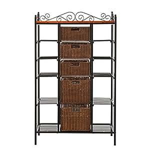 southern enterprises inc sei manilla 5 drawer baker 39 s rack kitchen dining. Black Bedroom Furniture Sets. Home Design Ideas