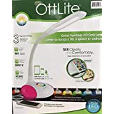 OTTLITE - Colour Spectrum LED Desk Lamp with USB Port and Colour Changing Base - White