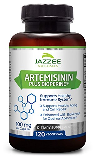 Four Month Supply (Artemisinin | 100 mg per Capsule | 120 Veggie Capsules | 4 Month Supply | Plus 5 mg BioPerine for Enhanced Absorption | Vegetarian/Vegan | Supports Healthy Aging and Cell Repair)