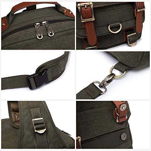 YMNL Mens Shoulder Bag Messenger Bag Casual Strong wear Horse Skin Business Casual Travel Bag