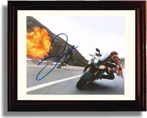 Framed Tom Cruise Autograph Replica Print - Mission ()